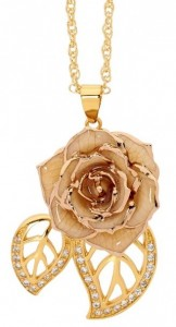 white rose pendant mothers day Jewellery